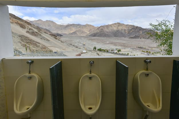 View from toilet in Thiksey Monastery, Ladakh, Photograph courtesy: Shutterstock