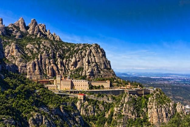 View of the monastery Montserrat in Spain near Barcelona
