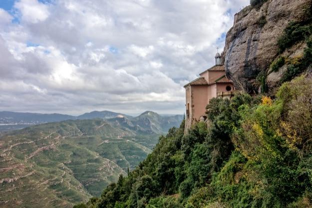 Monastery to Santa Cova, Montserrat, Spain