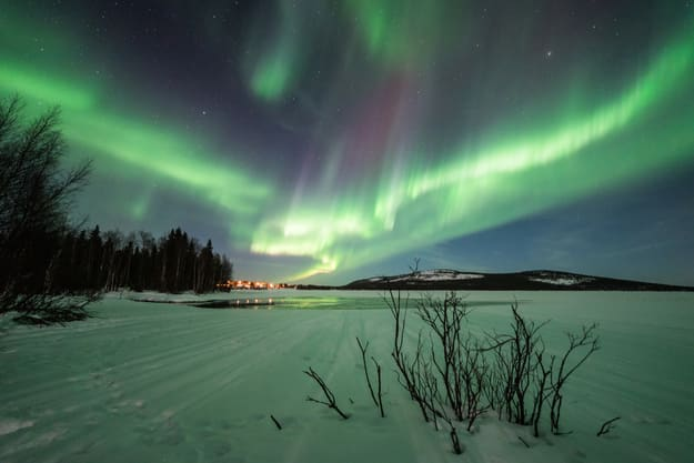 Northern lights in Pyhä, Lapland, Finland