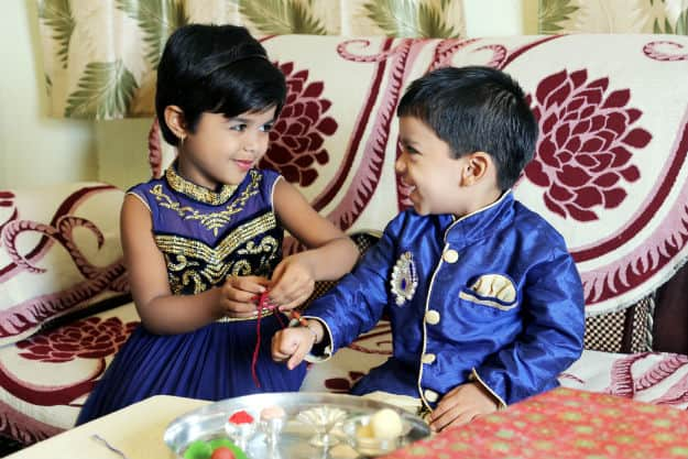 Kids celebrating Raksha Bandhan