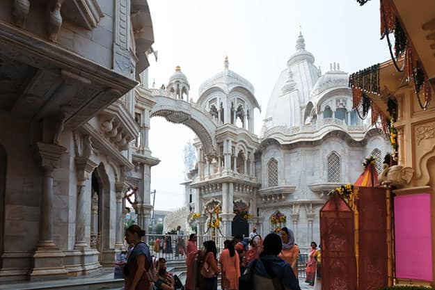 Devotees in Vrindavan