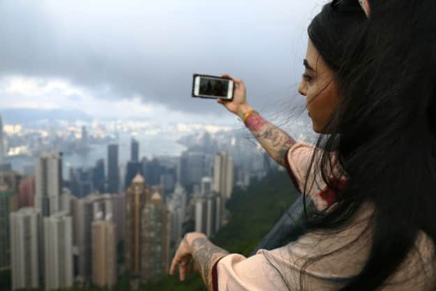 From the observation deck of The Peak Tower, Photograph courtesy: Hong Kong Tourism Board