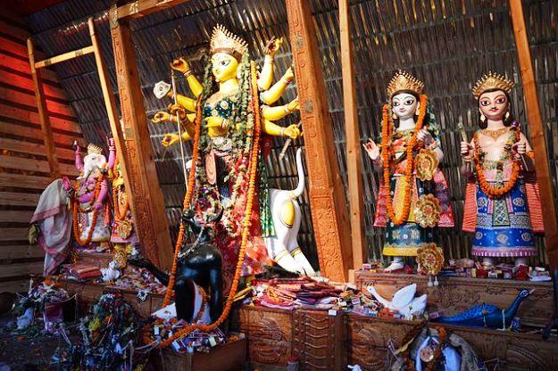 Bose Pukur Sitala Mandir Durga Puja, Photograph courtesy: Biswarup Ganguly/Wikimedia Commons