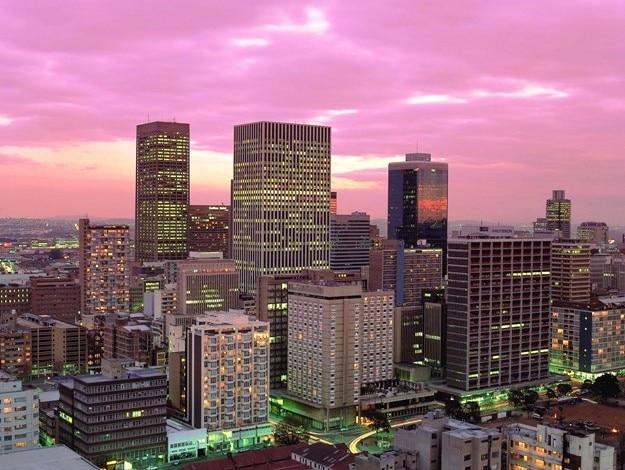 Dusk over Johannesburg City Centre, Photograph courtesy: South African Tourism