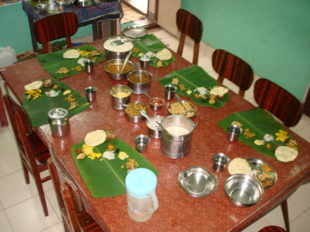 Onam Sadya at home - Vishnu Kunnathully/Wikimedia Commons