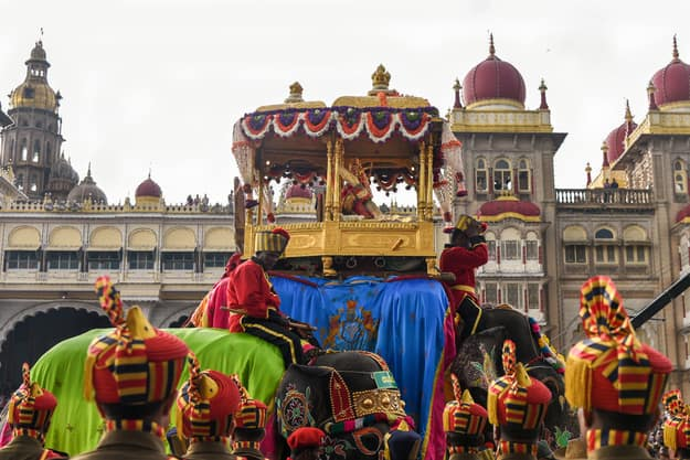 Parade on Dussehra or Dasara festival