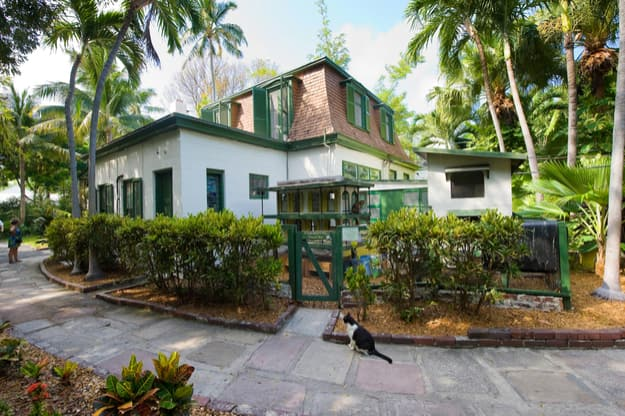Building where Ernest Hemingway worked on the compound of the Hemingway House in Key West in Florida