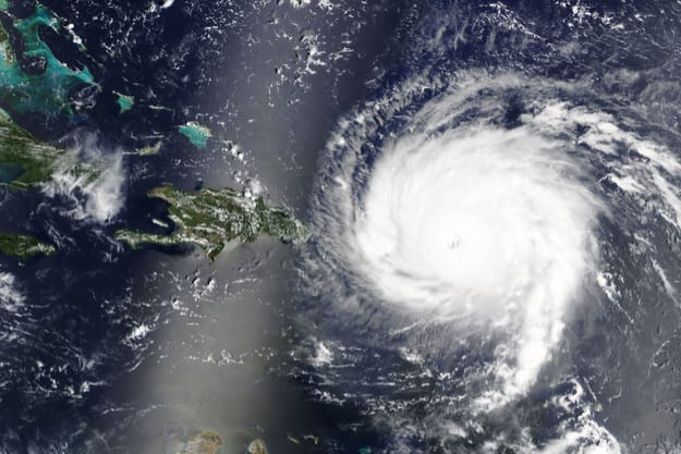 Hurricane Irma is heading towards the Caribbean Sea - Elements of this image furnished by NASA