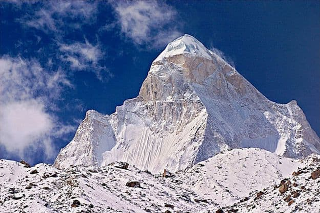 The summit of Shivling, Photograph Courtesy: Wikimedia Commons