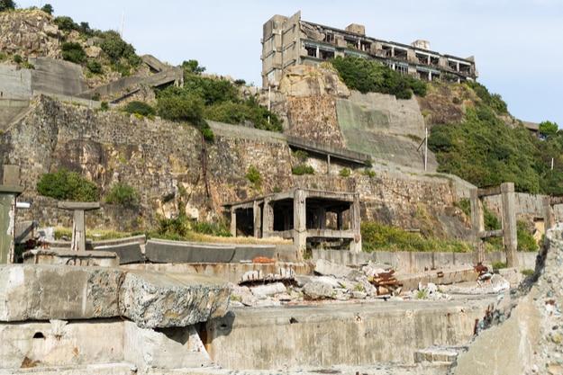 Abandoned Gunkanjima island in Japan