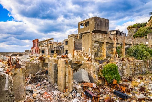 Abandoned island of Gunkanjima, Nagasaki, Japan (3)