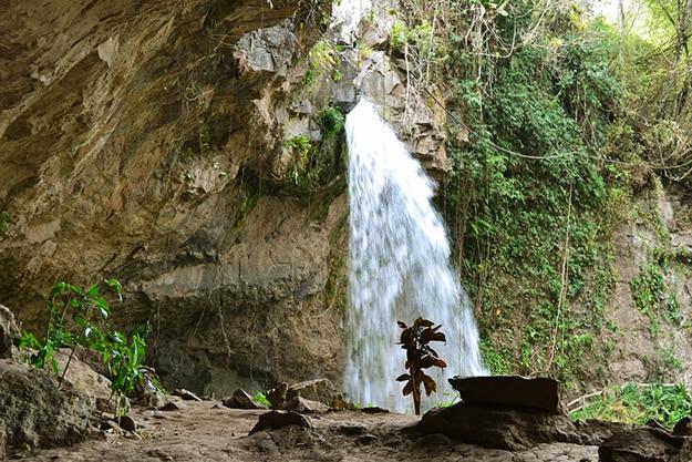 Blanca waterfall in Nicaragua