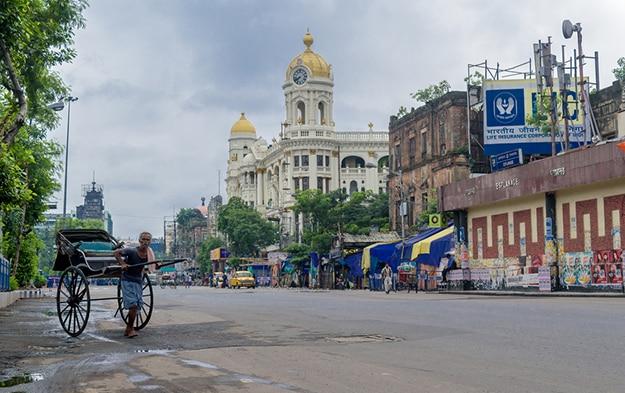 Kolkata - rickshaw Victoria Memorial