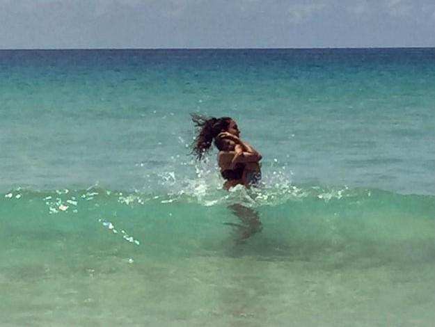 Lisa Haydon beach