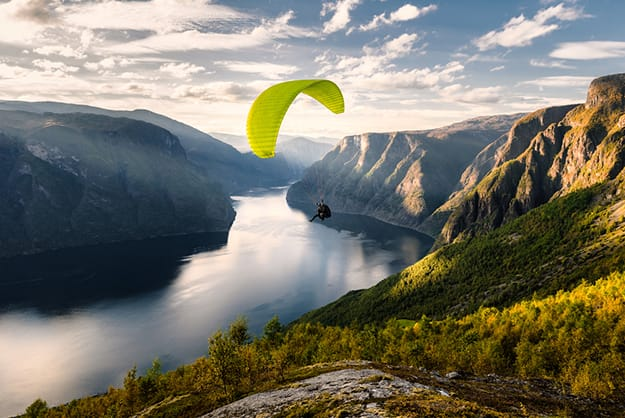 Norway paragliding