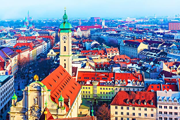 Old town panorama Germany