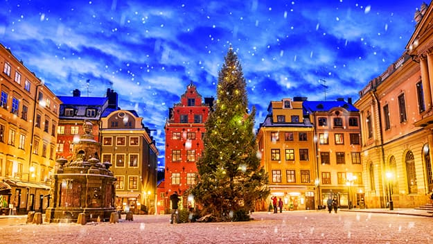 Sweden Christmas night