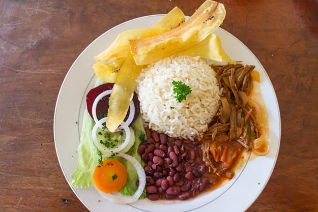 Typical lunch in Nicaragua