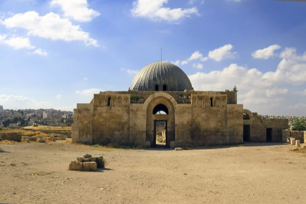 Umayyad Palace is a large palatial complex from the Umayyad period, located on the Citadel Hill of Amman, Jordan