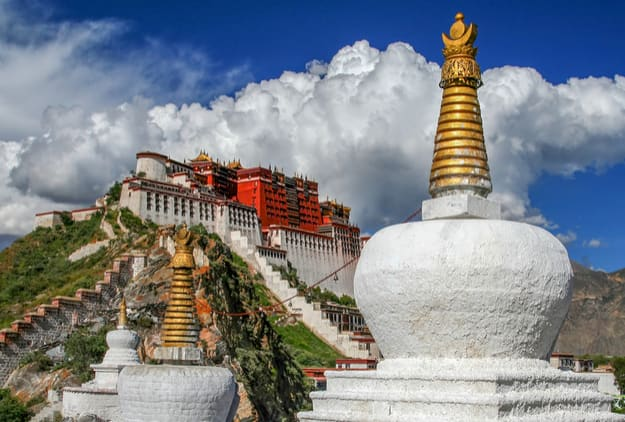 Potala Palace in summer, Lhasa, Tibet