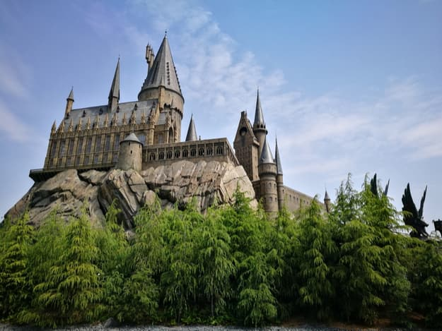 castle of Hogwarts School of Witchcraft and Wizardry at The Wizarding World of Harry Potter Attraction, Universal Studio, Osaka, Japan