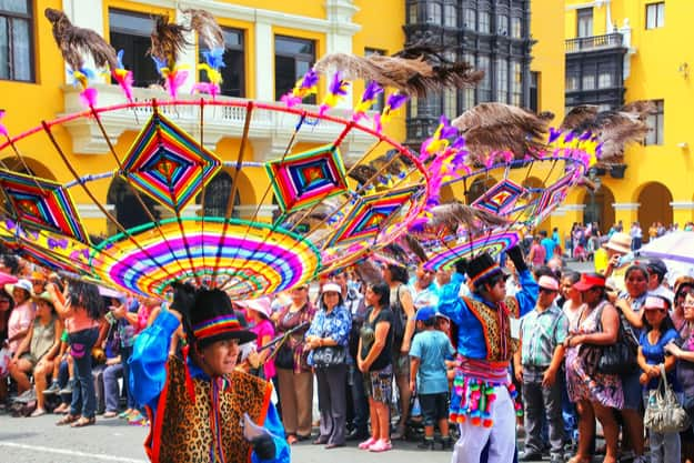 Festival of the Virgin de la Candelaria in Lima, Peru