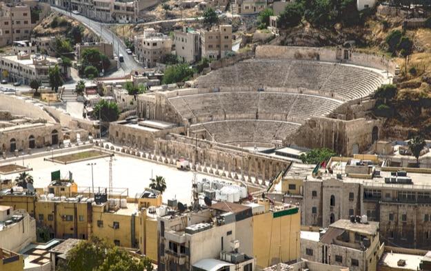 The ancient Roman Theater located in capital of Jordan, Amman