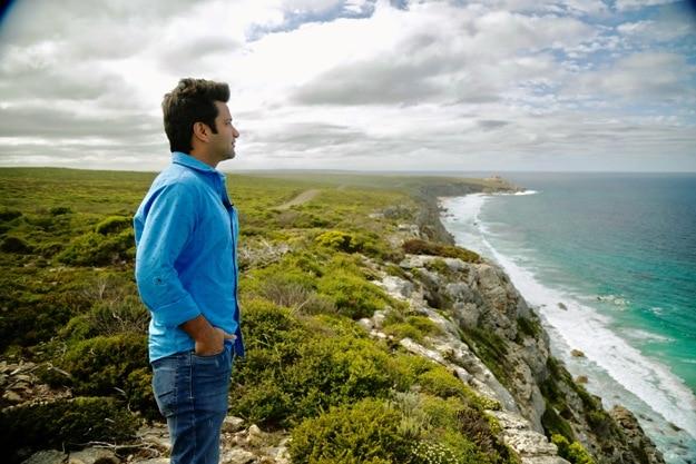 Watching the stunning view from the Kangaroo Island
