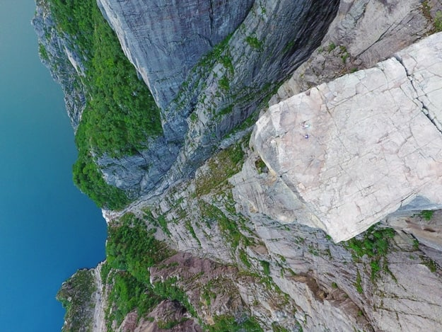view on pulpit rock in Norway