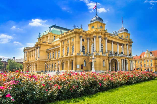 Croatian national theater in Zagreb, Croatia