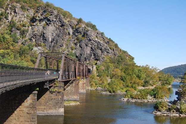 Harpers Ferry Bridge in West Virginia
