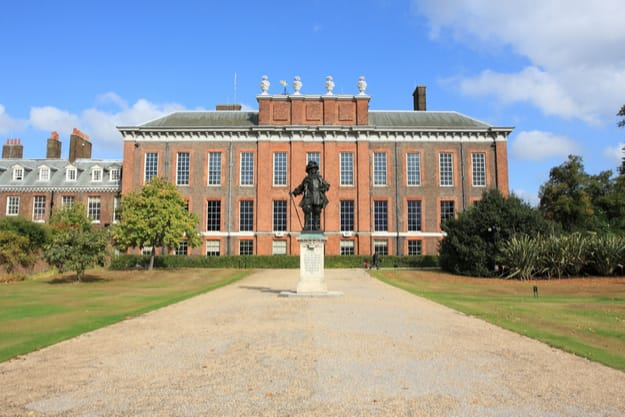 London Kensington Palace, a royal residence