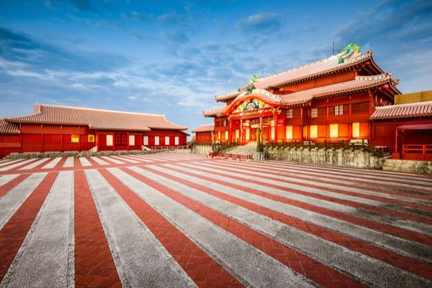 Naha, Okinawa, Japan at Shuri Castle