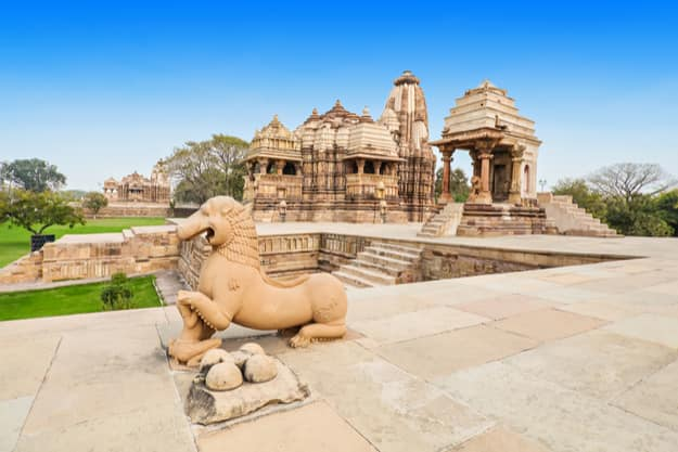The Khajuraho Group of Monuments are a group of Hindu and Jain temples