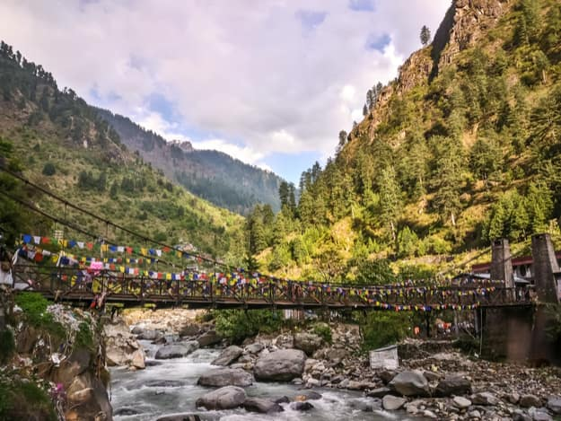 View of the bridge over Parvati River, Manikaran