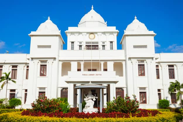 Jaffna Public Library is located in Jaffna, Sri Lanka. It is one of Jaffna most notable landmarks
