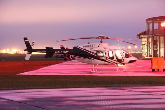 A Bell 407 helicopter