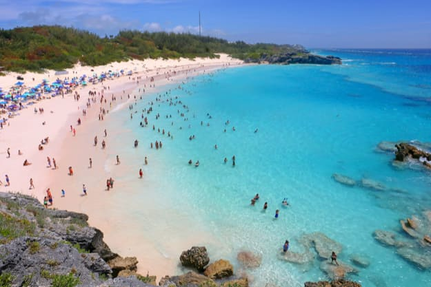 A scenic view of Horseshoe Bay Beach in Bermuda