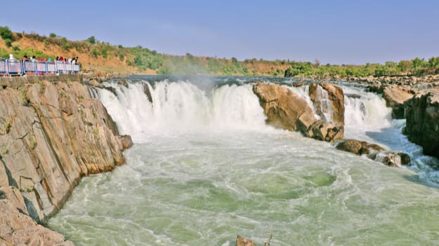 magnificent Dhuandhar Waterfall is located on Narmada River in Jabalpur