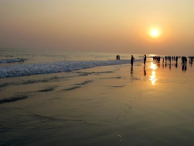 Sunset in Puri beach