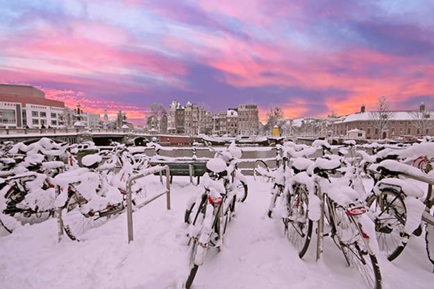 Amsterdam photo sunset