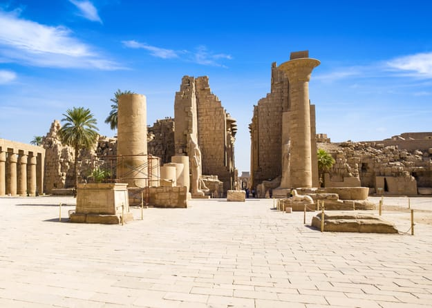 Ancient ruins of Karnak temple, Luxor, Egypt