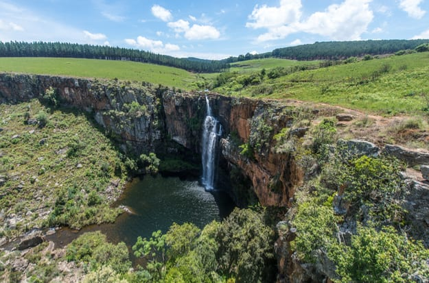 Berlin Waterfall, South Africa. A 262 foot cascade in the Mpumalanga region