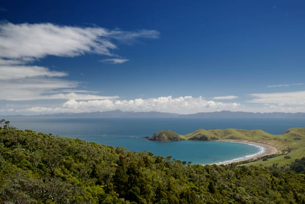 Coromandel Peninsula, view to the Great Barrier Island, New Zealand