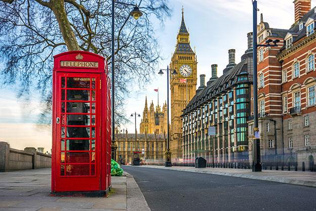 England telephone booth photo