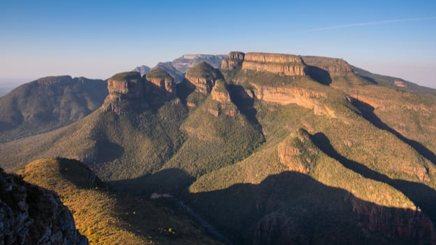Evening view of The Three Rondavels and Blyde River Canyon on The Panorama Route, Mpumalanga, South Africa