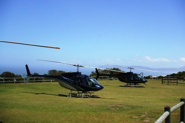 Helicopter transfer, Photograph Courtesy: South African Tourism