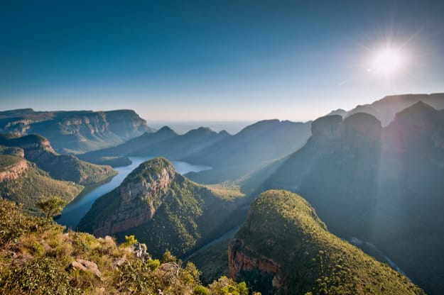 Morning sunlights baths the Blyde River Canyon in Mpumulanga