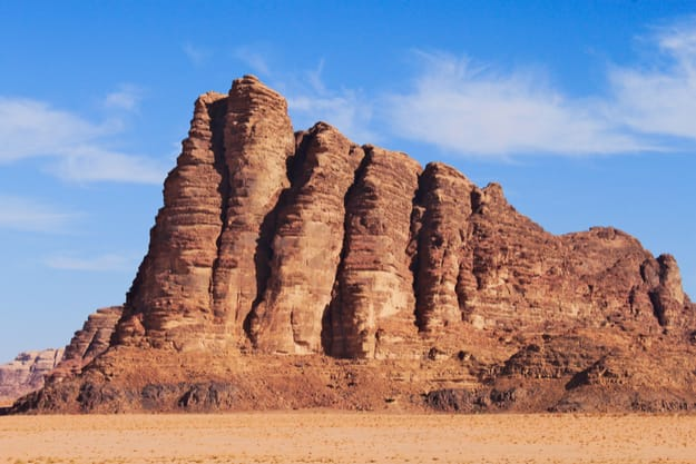 Seven pillars of wisdom on Wadi Rum desert